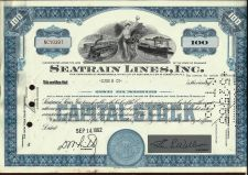 Buy Vintage Seatrain Lines Inc 100 Shares Capital Stock 1962 Certificate NC10397