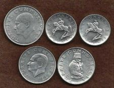 Buy Turkey Five (5) Coin Set 25, 10, and 5 Lira Coins