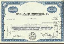 Buy Butler Aviation International 1971 Stock Certificate -Aviation - Airline
