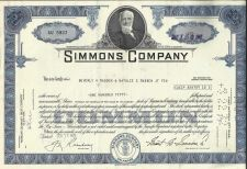 Buy Simmons Company 150 shares of Common Stock 1972 Certificate AU 5937