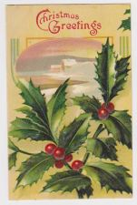 Buy Christmas early 1900's Postcard #14 with Preprinted Advertisemnet