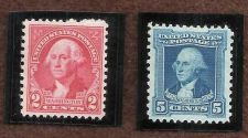 Buy Two 1932 Washington US Bicentennial Stamps Charles Peal & Gilbert S Stuart