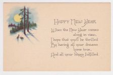 Buy New Year or New Years early 1900's Postcard #10