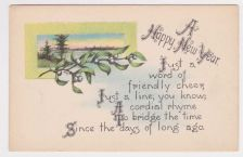 Buy New Year or New Years early 1900's Postcard #23