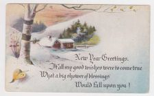 Buy New Year or New Years early 1900's Postcard #40