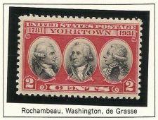 Buy US STAMPS-SCOTT#703 MINT,1931 Rochambeau,Washington de Grasse 2C