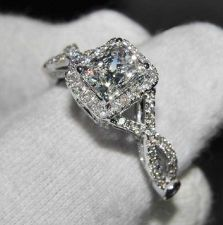 Buy 3 Ct Cushion Cut Diamond Engagement Wedding Ring Certified NSCD