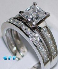 Buy 2 Ct Diamond Princess Cut Engagement Wedding Ring Bridal Set