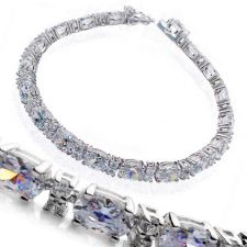 Buy 10 CT DIAMOND SONA Round Brilliant Shape Tennis Bracelet !!!