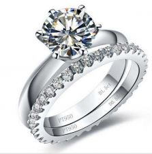 Buy 1 Ct Rount Diamond Engagement Wedding Set Ring Size 4 - 8.5