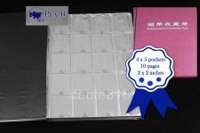 Buy Coin Penny Collection Book Holder Album 10 Pages 200 Pockets Fits 2x2 Cardboard