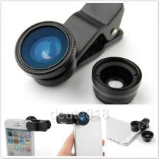 Buy Portable Clip-On Camera Lens Wide Angle Macro Fisheye iPhone iPad Samsung Note