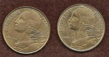 Buy France 2 Coin Set 20 Centimes 1988 & 1997