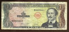 Buy 1988 Dominican Republic 1 Peso P.126 Note #M566891T