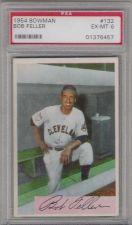 Buy 1954 Bowman #132 Bob Feller Cleveland Indians PSA 6 EX-MT HOF