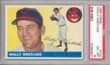 Buy 1955 Topps #102 Wally Westlake Cleveland Indians PSA 6 EX-MT