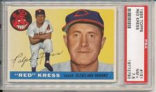 "Buy 1955 Topps #151 Ralph ""Red"" Kress Cleveland Indians PSA 7.5 NM+"