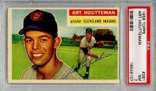 Buy 1956 Topps #281 Art Houtteman Cleveland Indians PSA 7 NM