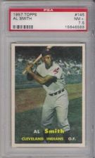 Buy 1957 Topps Baseball #145 Al Smith Cleveland Indians PSA 7.5 NM+