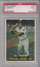 Buy 1957 Topps Baseball #145 Al Smith Cleveland Indians PSA 7.5 NM+