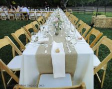 "Buy 120"" x 12"" Inch Burlap Table Runners (Fit 8ft Long Tables)"