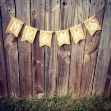 Buy Burlap 'Mr & Mrs' Banner