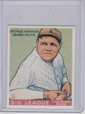 Buy Babe Ruth 1933 Goudey Reprint #181