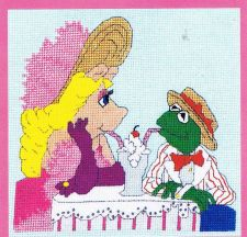 Buy Sharing A Soda Cross Stitch Pattern Digital Delivery