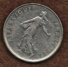 Buy French Coins, Vth Republic, 5 Francs Semeuse , 1971 - Seed Sower