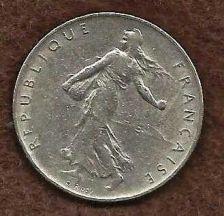 Buy French Coins, Vth Republic, 1 Franc Semeuse , 1961