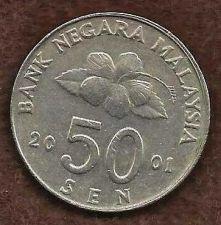 Buy Malaysia 50 Sen 2001