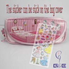 Buy Pink Disney Princess Pencil Case with Sticker Decoration