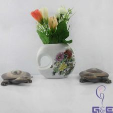 "Buy China Painting Glaze Vase 4""inches (Fully Peony Paint)"