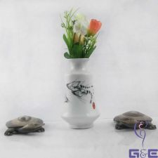 "Buy China Painting Glaze Vase 5.75""inches (4 Shrimps Swimming)"