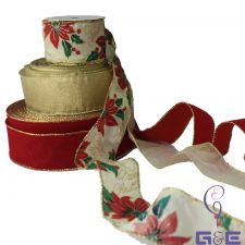 """Buy 10 Assorted Wire Edge Ribbon Rolls 2.5"""""""