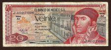 Buy Mexico Mexican 20 Centavos 1973 Banknote J4027696