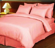 Buy CHRISTMAS OFFER 3PC DUVET COVER1000TCSTRIPE PINK QUEEN 100% EGYPTION COTTON
