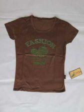Buy Fashion New Women Girl Short Sleeve Brown Shirt #45 Free shipping