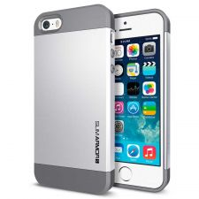 Buy iPhone 5 Case, iPhone 5S Case, SGP Slim Thin Silver Hard Case, iPhone Cover