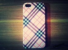 Buy iPhone 5 Case, iPhone 5S Case, Slim Thin Hard Case Check Design SS-006