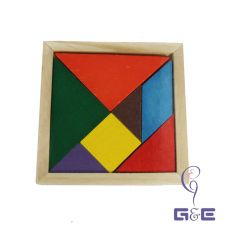 Buy Wholesale 80pcs Tangram (Seven Pieces Puzzle) Wooden Mat