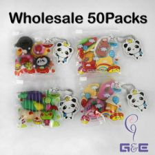Buy 3D Fast Food, Cakes, Dessert and Vegetables Rubber / Erasers