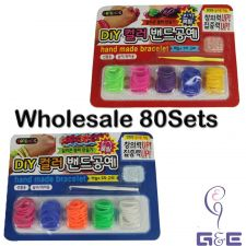 Buy Wholesale 80sets Assorted Colors Korea Hand Made Bracelet (DIY Rainbow Loom Set)