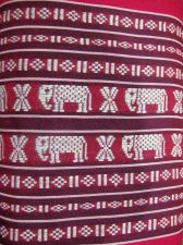 "Buy DECORATIVE ELEPHANT PILLOW CUSHION COVER CASE RED 11""x17"""