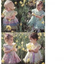 Buy Crochet baby 4 dresses PDF Patterns