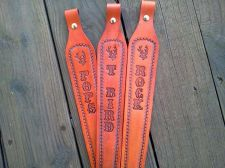 Buy Pre-Order Custom personalized WITH YOUR NAME Leather Rifle Sling without swivals