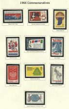 Buy 1966 Commemorative Mint Stamps! Features Marines, Women's Clubs, Bill of Rights!