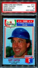 Buy 1988 88 CHEF BOYARDEE GARY CARTER METS PSA 8 NM-MINT PERFORATED #10