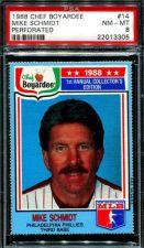 Buy 1988 88 CHEF BOYARDEE MIKE SCHMIDT PHILLIES PSA 8 NM-MINT PERFORATED #14