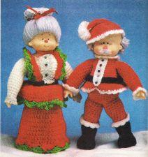 Buy Mr & Mrs Santa Dolls Crochet PDF Pattern Digital Delivery